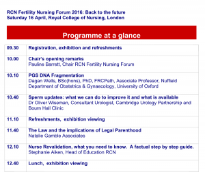 Royal College of Nursing Invites Oliver Wiseman to talk at their Infertility Training Day